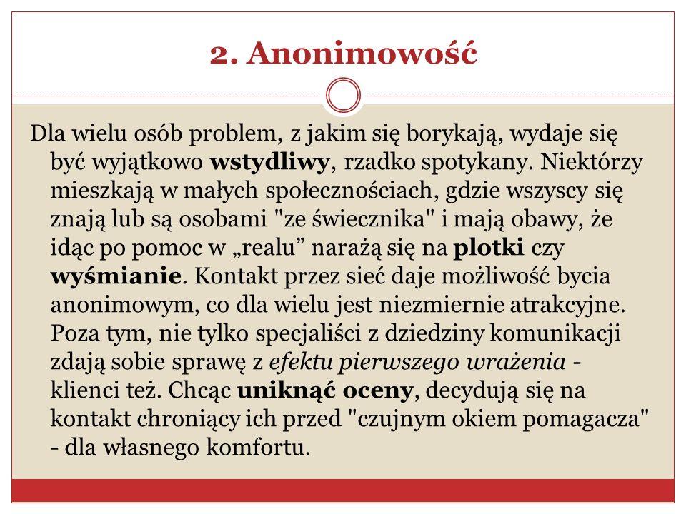 2. Anonimowość