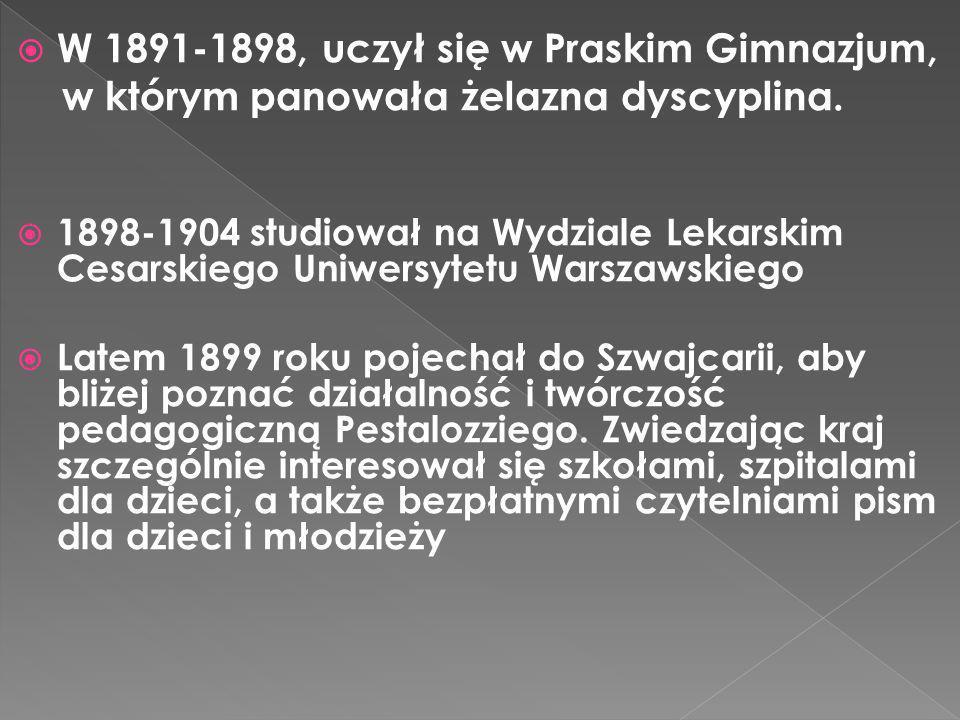 W 1891-1898, uczył się w Praskim Gimnazjum,