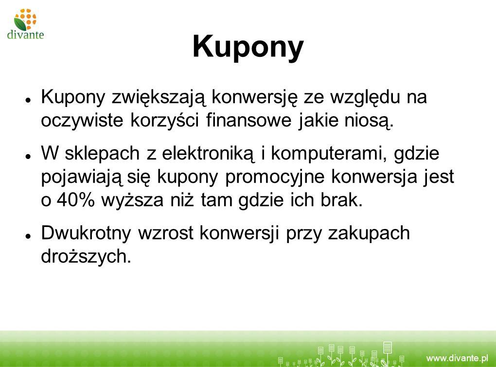 Kupony Kupony zwiększają konwersję ze względu na oczywiste korzyści finansowe jakie niosą.