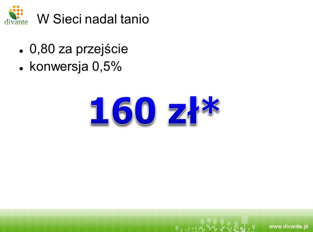 W Sieci nadal tanio 0,80 za przejście konwersja 0,5% 160 zł*