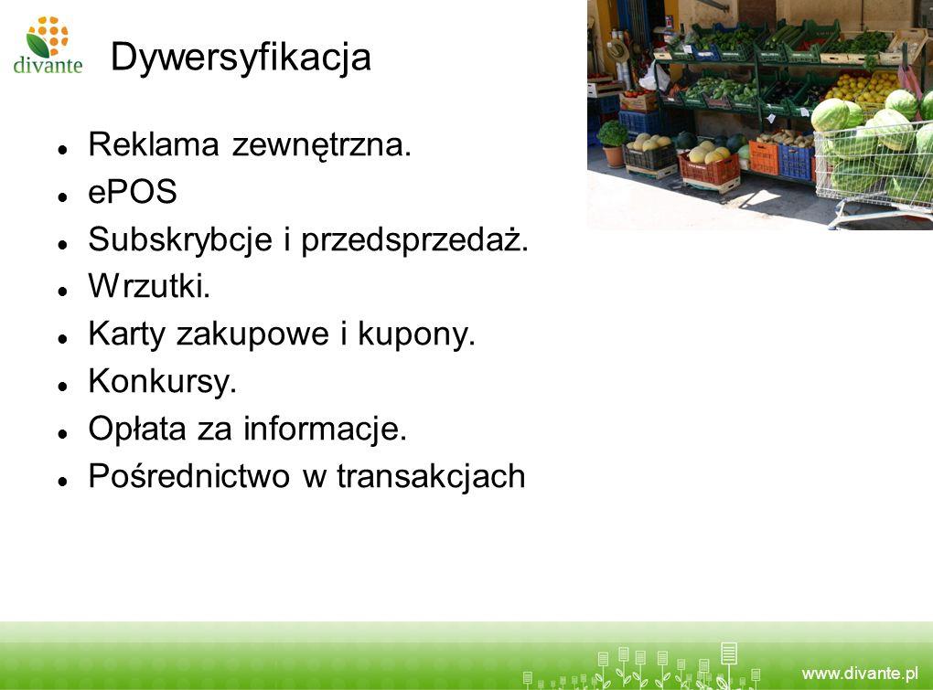 Dywersyfikacja Reklama zewnętrzna. ePOS Subskrybcje i przedsprzedaż.