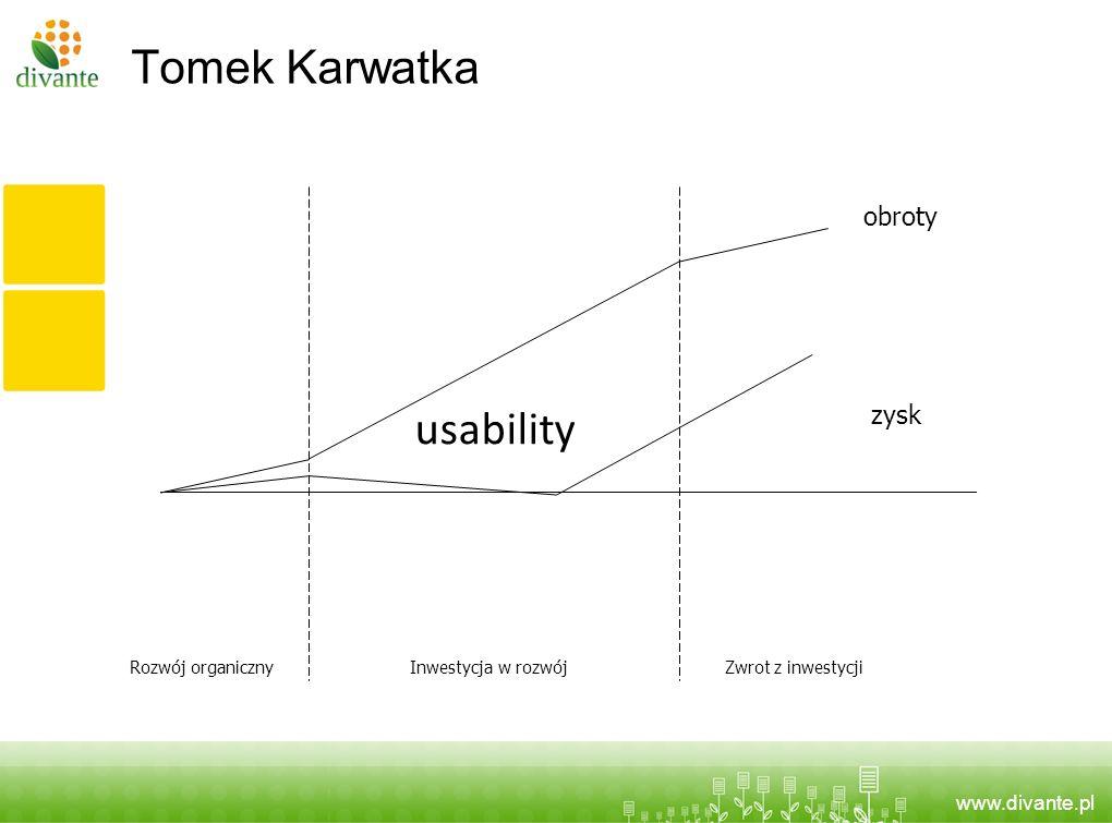 Tomek Karwatka usability obroty zysk Rozwój organiczny