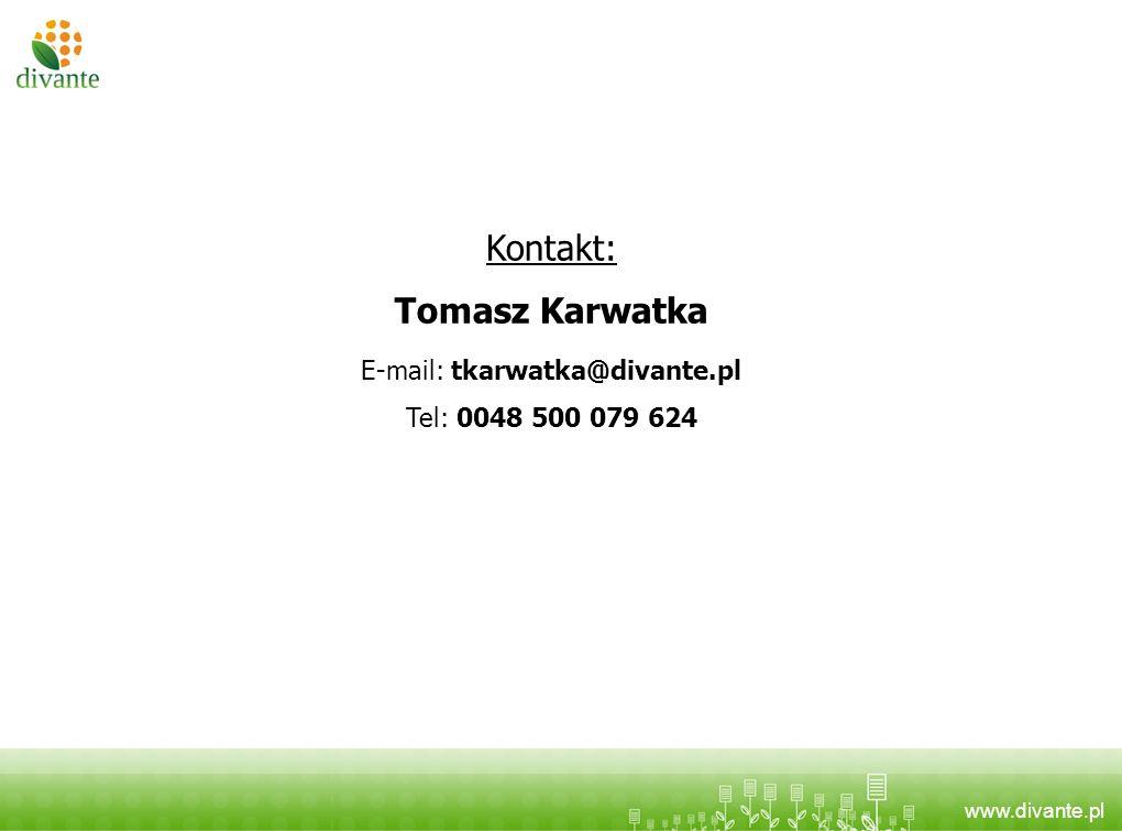 E-mail: tkarwatka@divante.pl