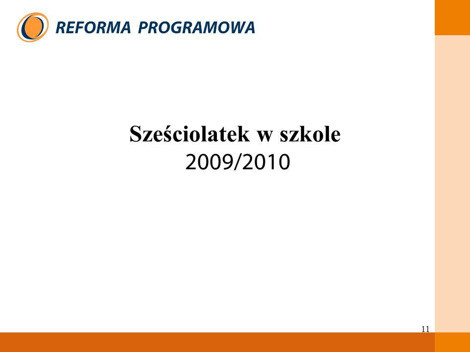 Sześciolatek w szkole 2009/2010