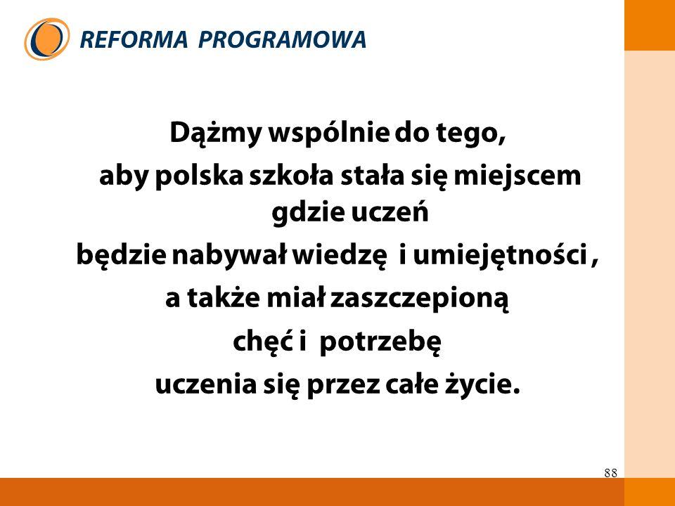aby polska szkoła stała się miejscem gdzie uczeń
