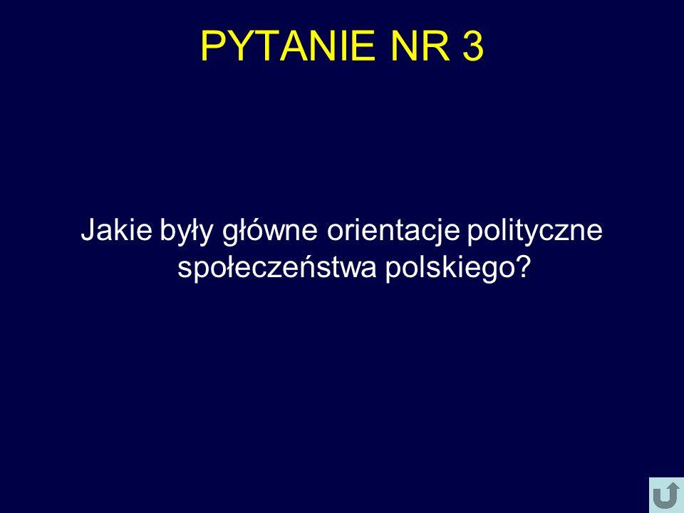 Jakie były główne orientacje polityczne społeczeństwa polskiego