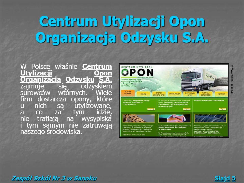 Centrum Utylizacji Opon Organizacja Odzysku S.A.