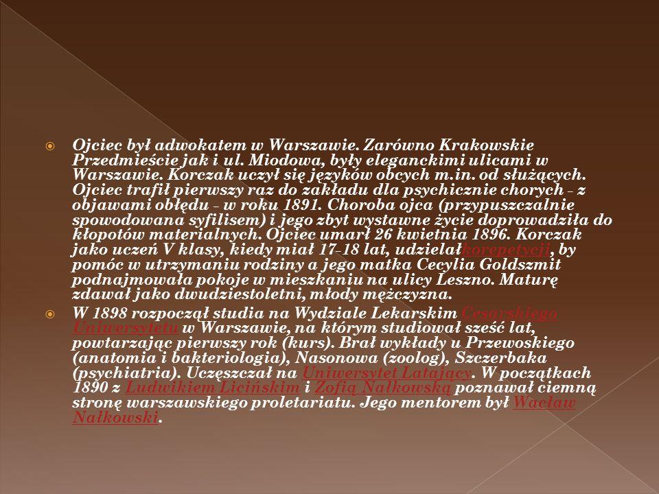 Ojciec był adwokatem w Warszawie