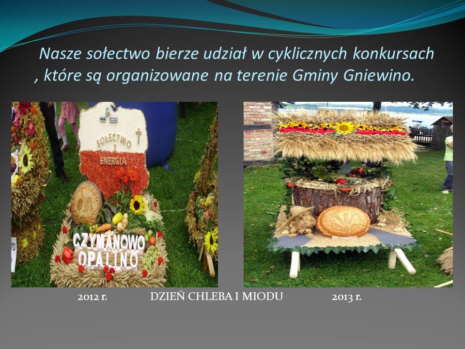 Nasze sołectwo bierze udział w cyklicznych konkursach , które są organizowane na terenie Gminy Gniewino.