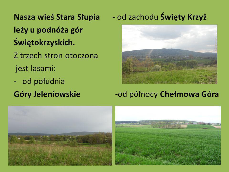 Nasza wieś Stara Słupia - od zachodu Święty Krzyż