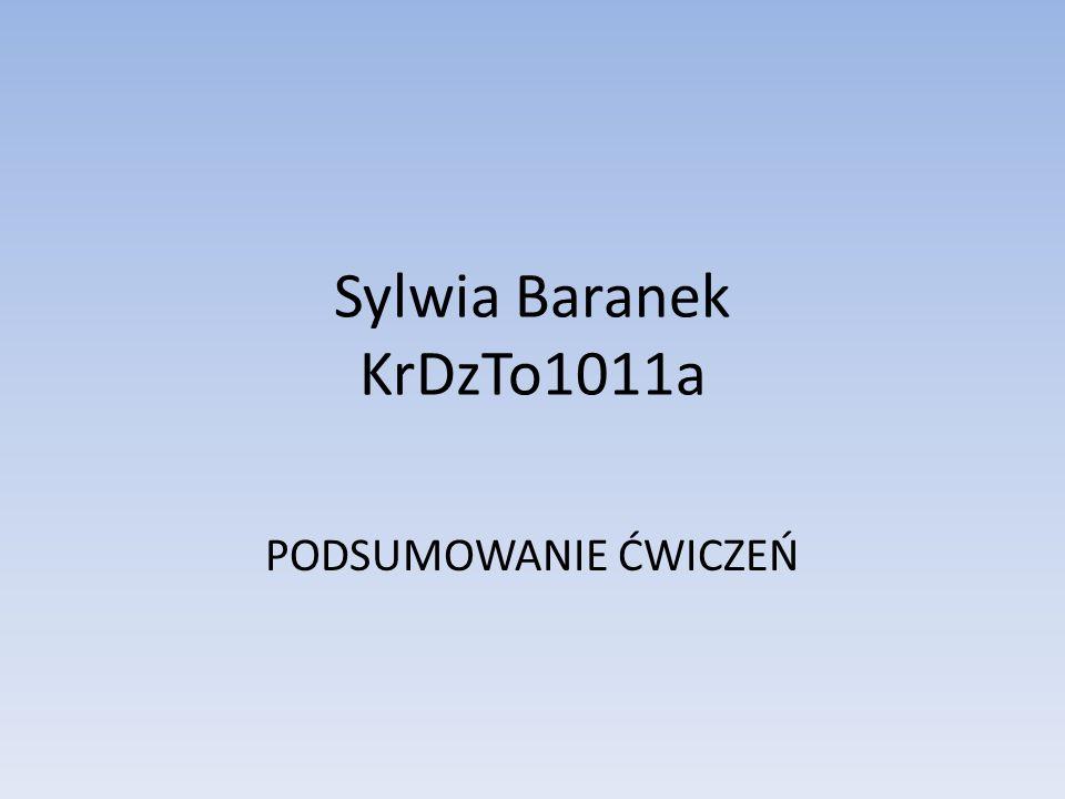 Sylwia Baranek KrDzTo1011a