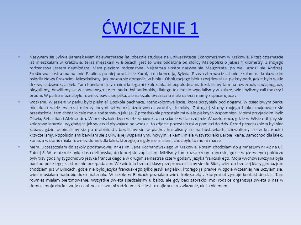 ĆWICZENIE 1
