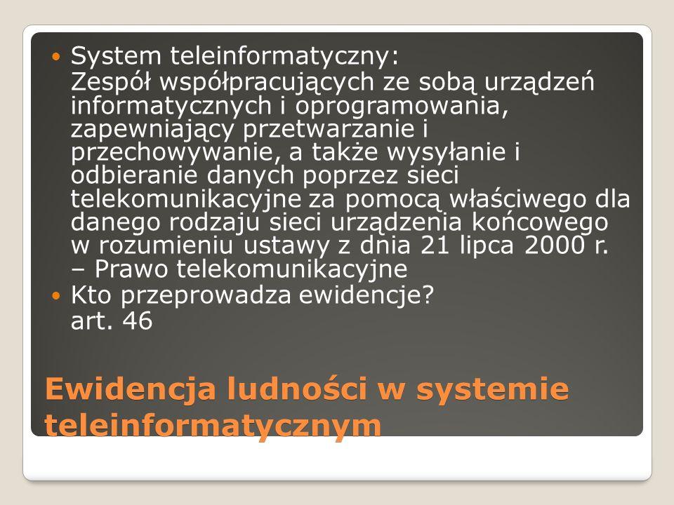 Ewidencja ludności w systemie teleinformatycznym