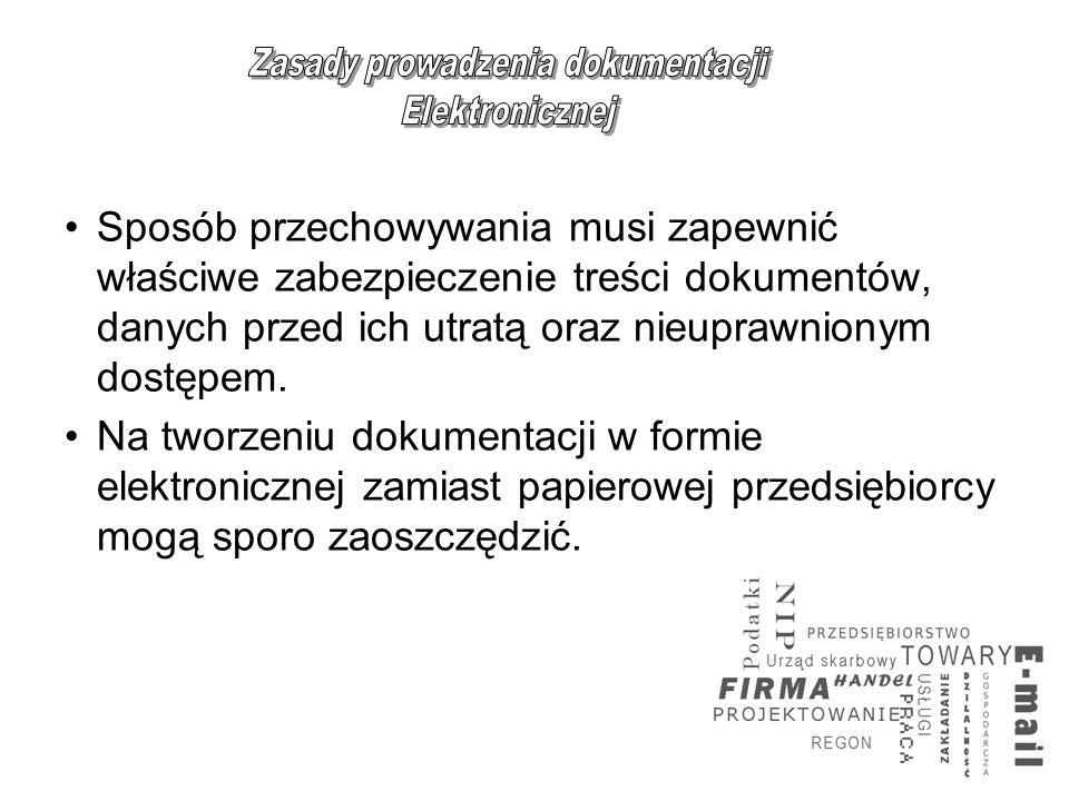 Zasady prowadzenia dokumentacji
