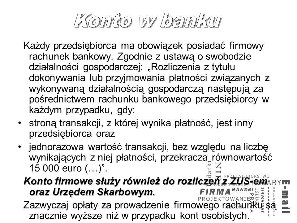 Konto w banku