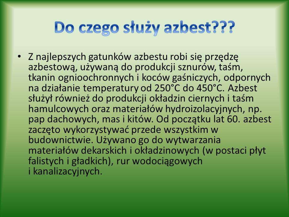 Do czego służy azbest