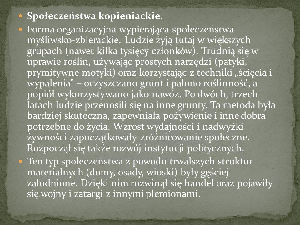 Społeczeństwa kopieniackie.