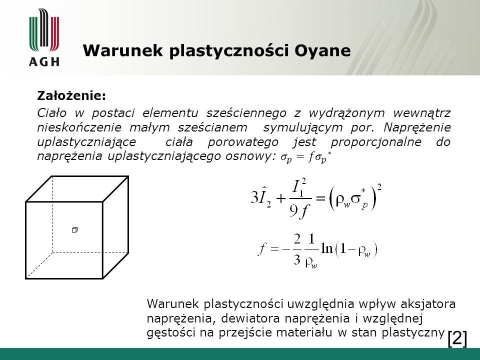 Warunek plastyczności Oyane