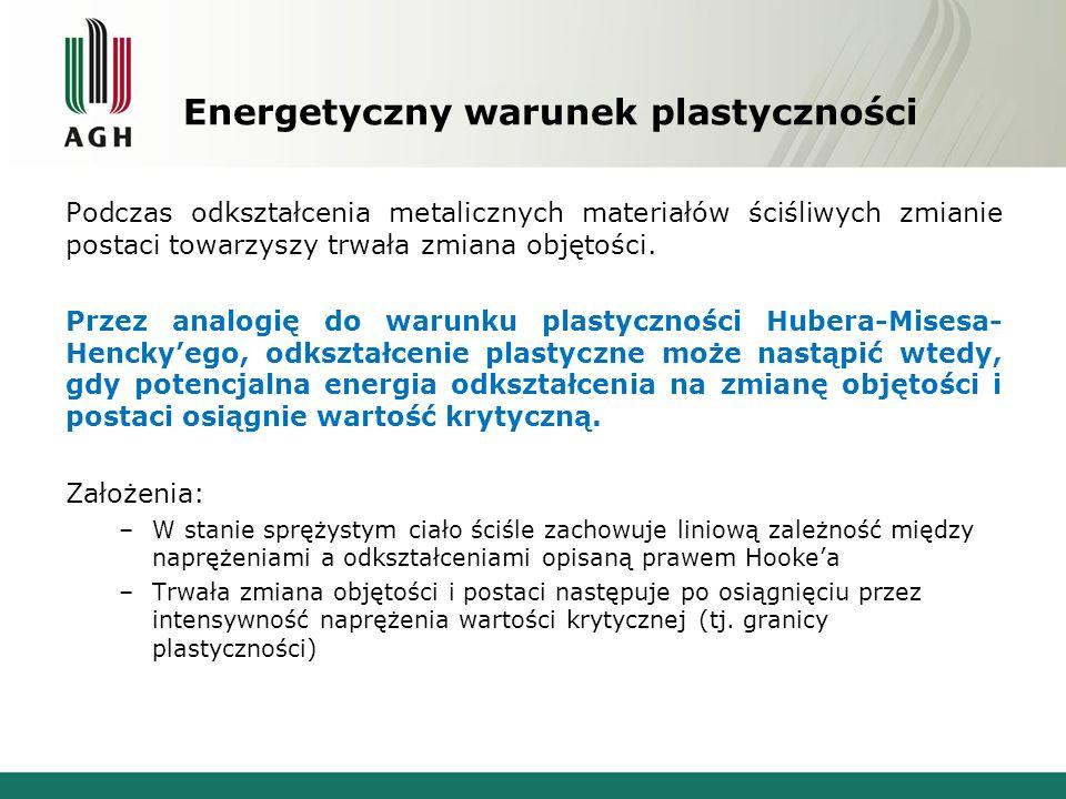 Energetyczny warunek plastyczności