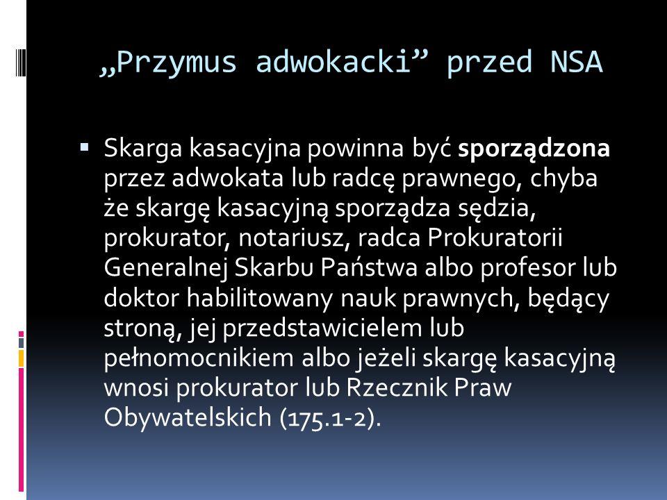 """""""Przymus adwokacki przed NSA"""