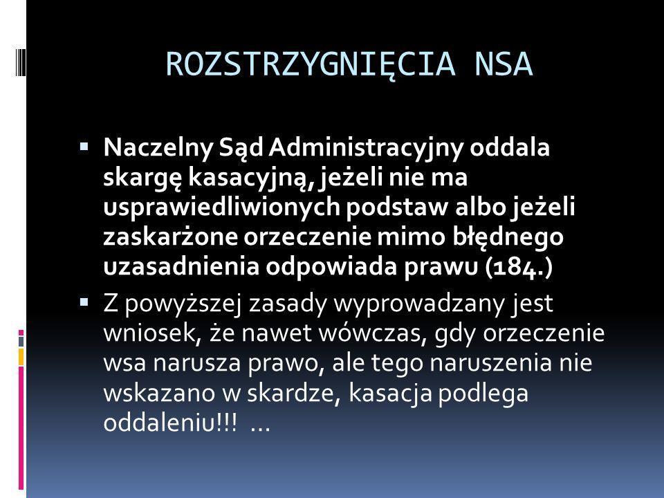 ROZSTRZYGNIĘCIA NSA