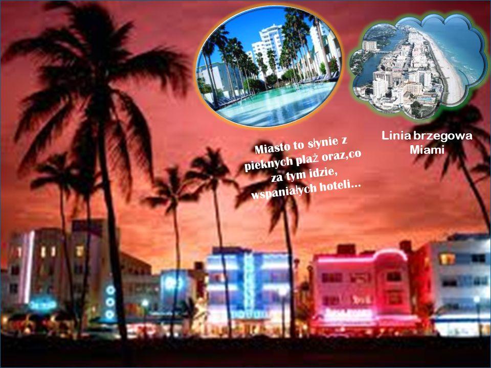 Linia brzegowa Miami Miasto to słynie z pieknych plaż oraz,co za tym idzie, wspaniałych hoteli…