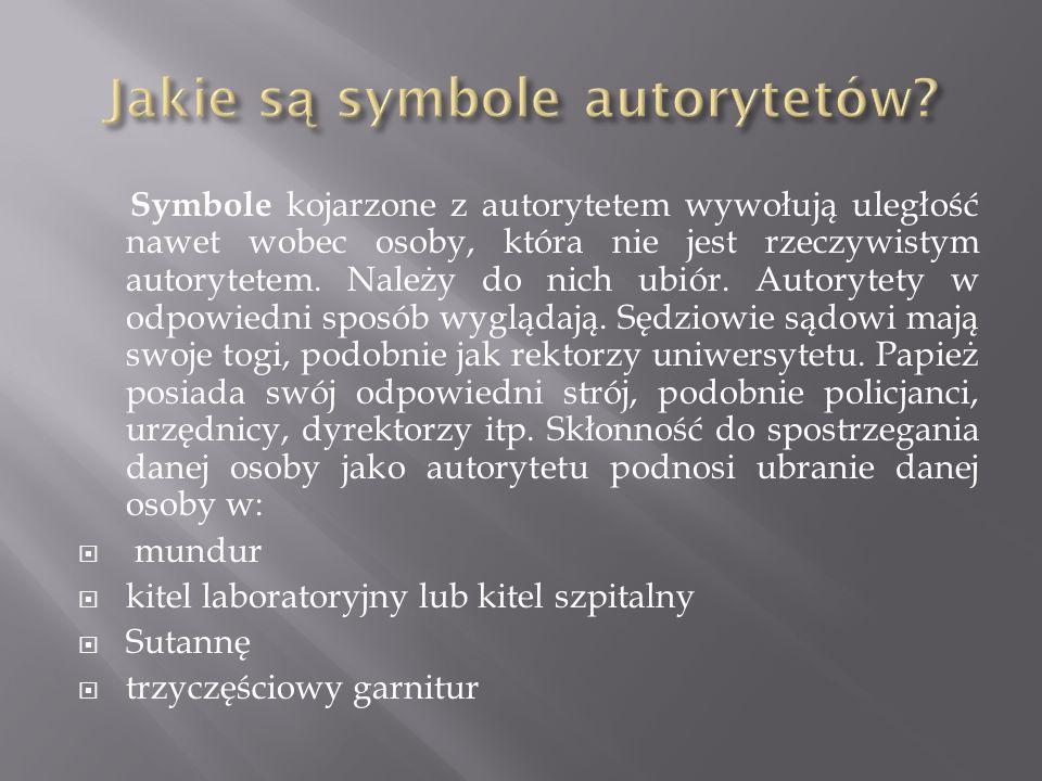 Jakie są symbole autorytetów