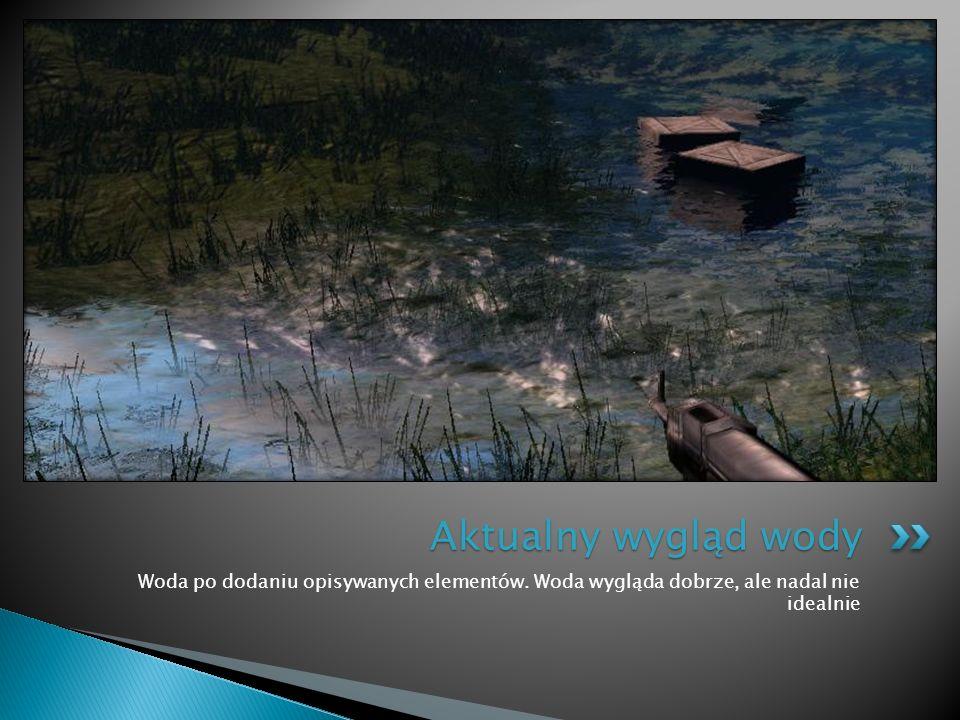 Aktualny wygląd wody Woda po dodaniu opisywanych elementów.