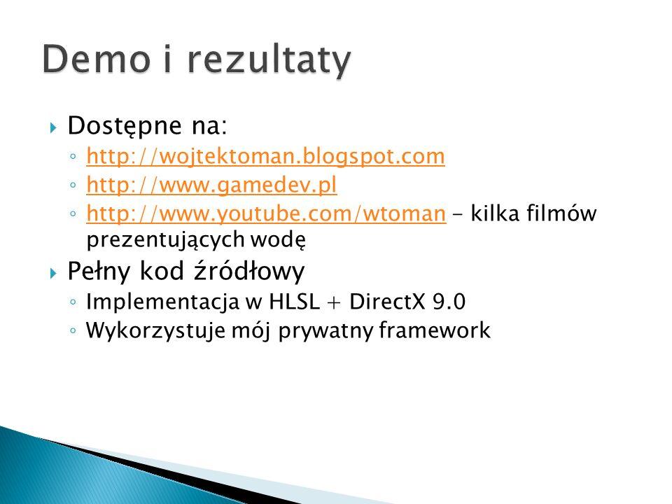Demo i rezultaty Dostępne na: Pełny kod źródłowy
