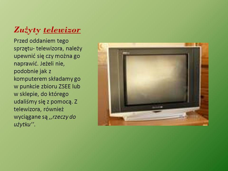 Zużyty telewizor