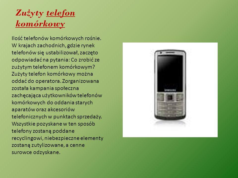 Zużyty telefon komórkowy