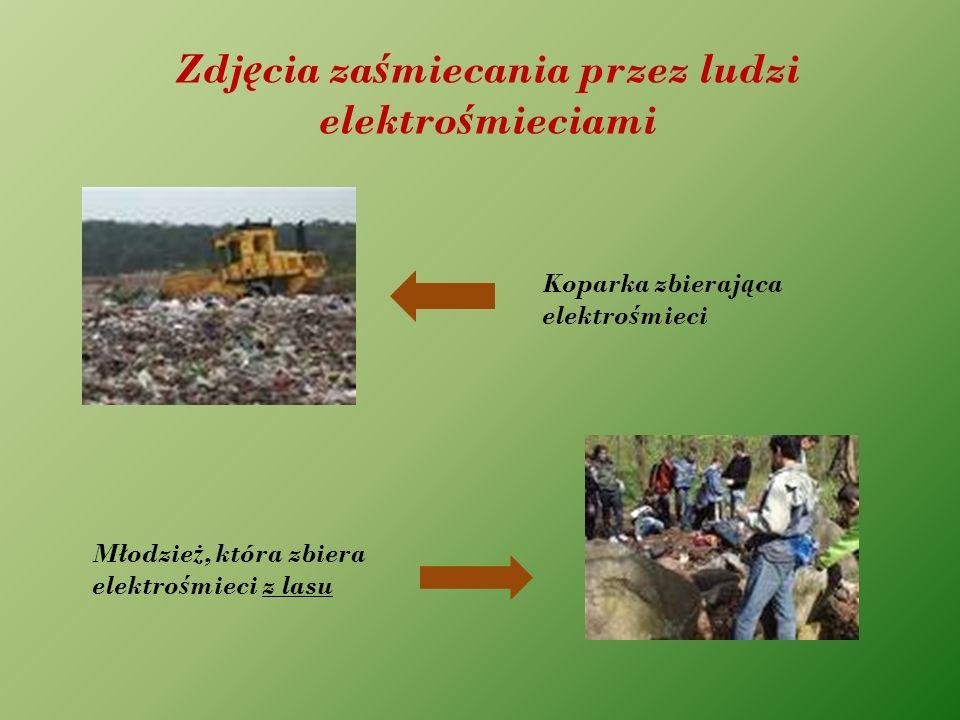 Zdjęcia zaśmiecania przez ludzi elektrośmieciami