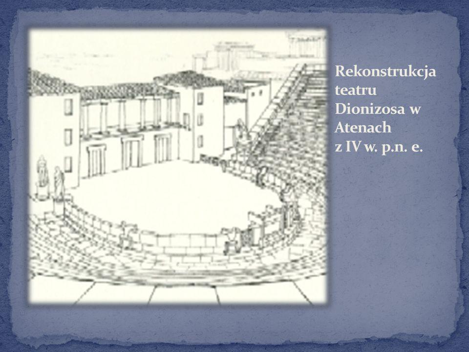 Rekonstrukcja teatru Dionizosa w Atenach z IV w. p.n. e.