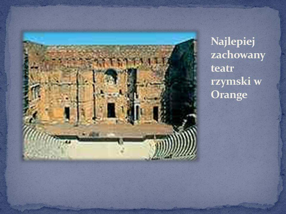 Najlepiej zachowany teatr rzymski w Orange