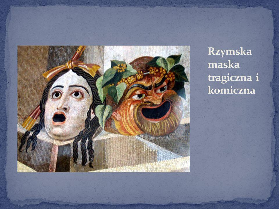Rzymska maska tragiczna i komiczna