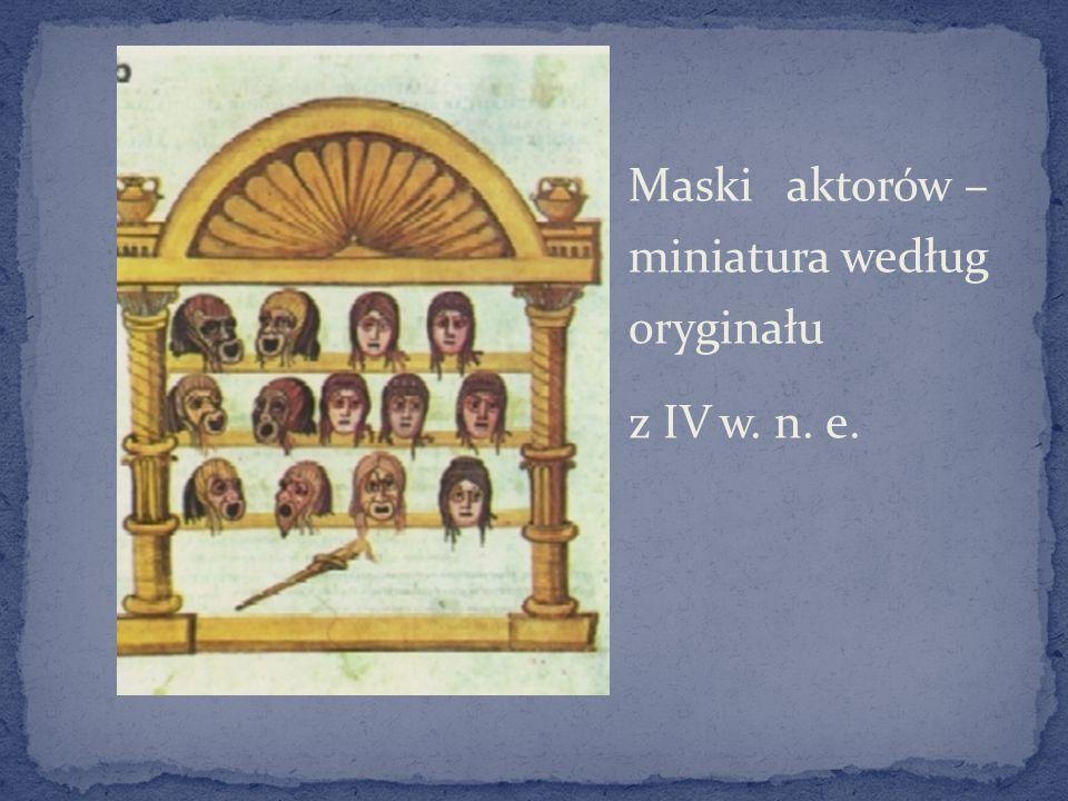 Maski aktorów – miniatura według oryginału