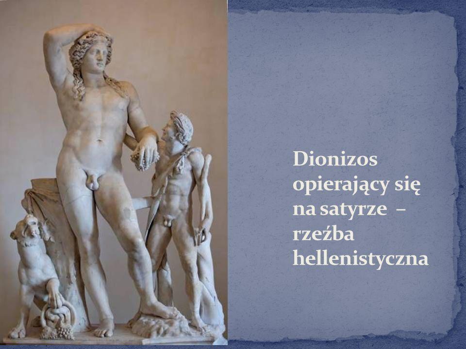 Dionizos opierający się na satyrze – rzeźba hellenistyczna