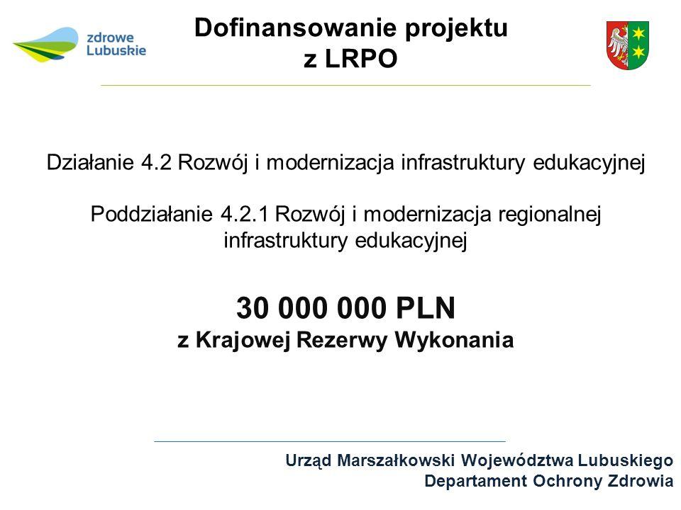 Dofinansowanie projektu z LRPO