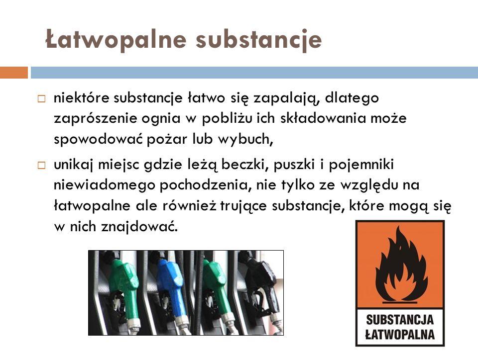 Łatwopalne substancje