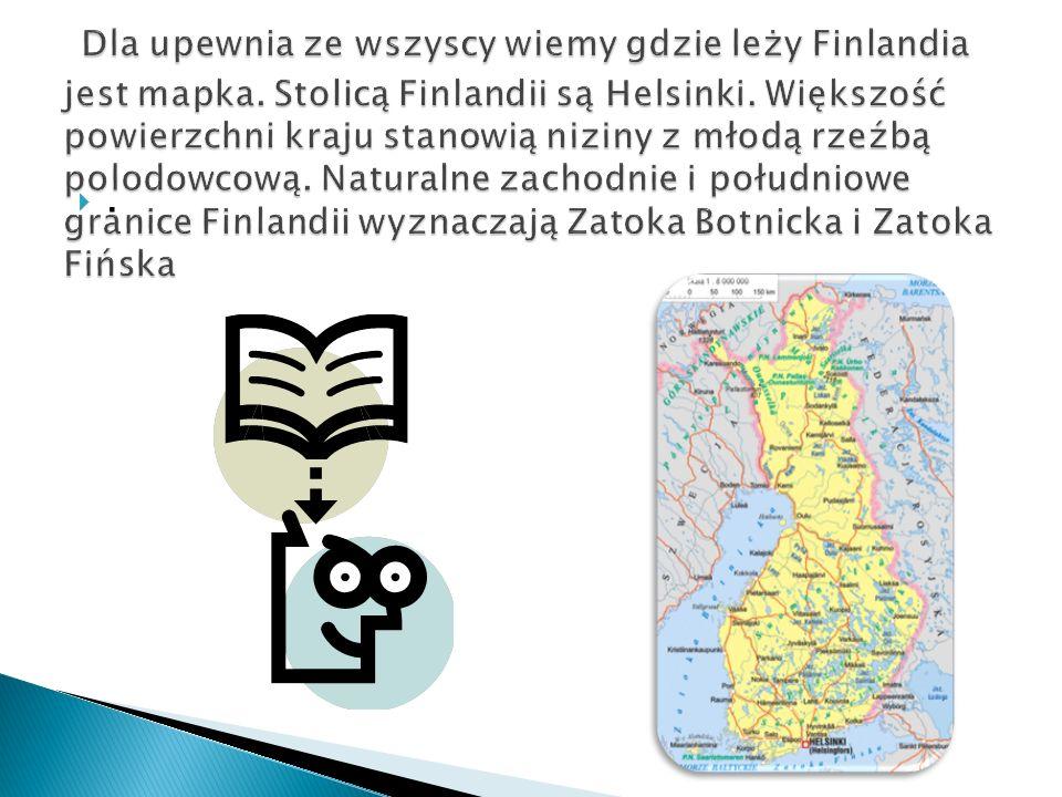 Dla upewnia ze wszyscy wiemy gdzie leży Finlandia jest mapka