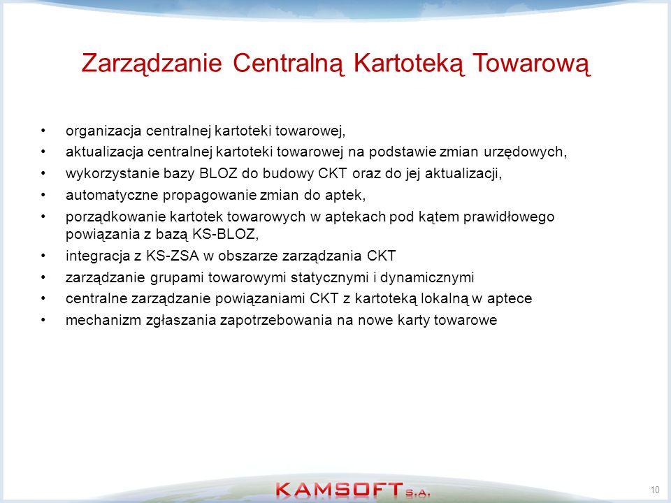 Zarządzanie Centralną Kartoteką Towarową