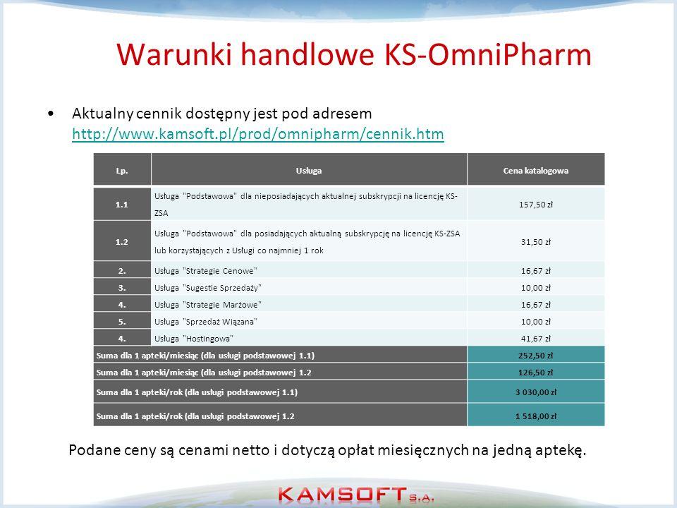 Warunki handlowe KS-OmniPharm