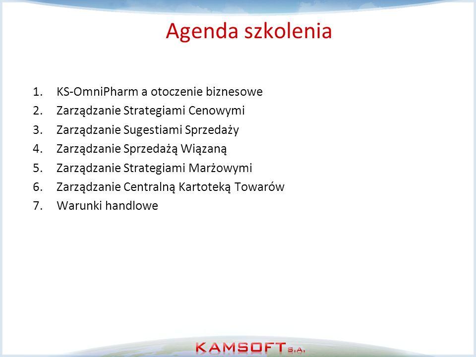Agenda szkolenia KS-OmniPharm a otoczenie biznesowe