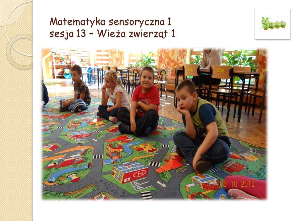 Matematyka sensoryczna 1 sesja 13 – Wieża zwierząt 1