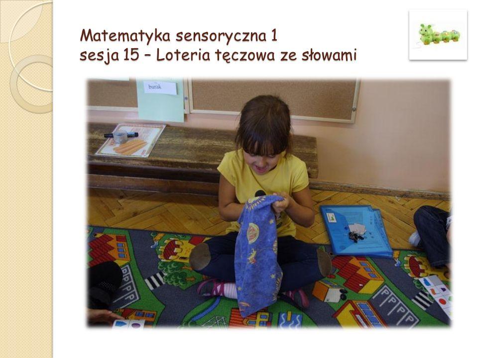 Matematyka sensoryczna 1 sesja 15 – Loteria tęczowa ze słowami