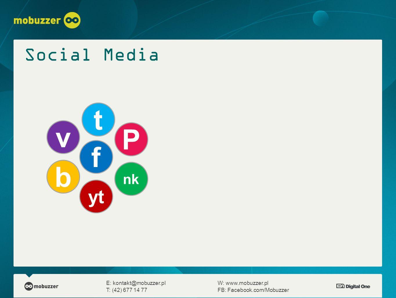 t v P f b Social Media yt nk