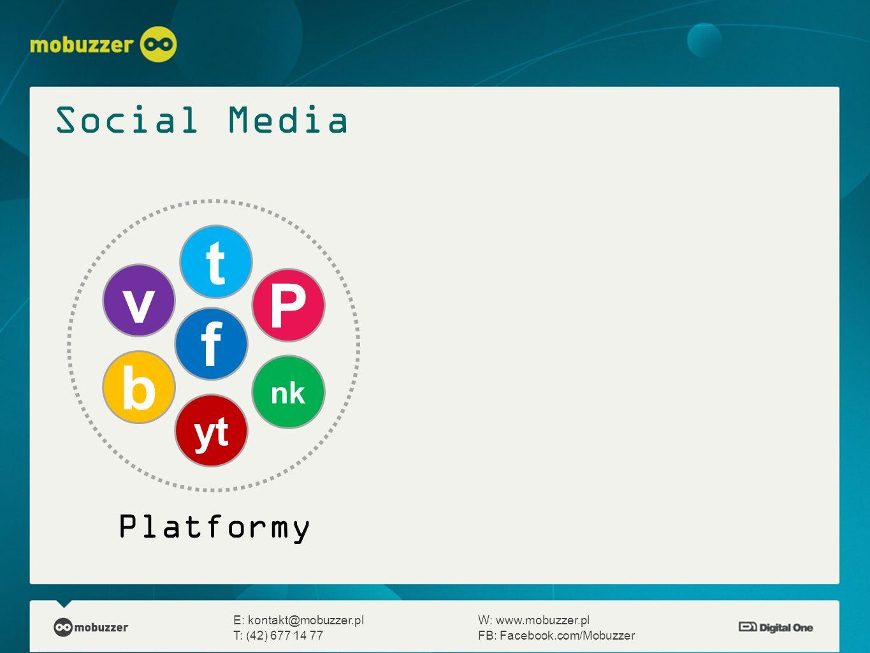 t v P f b Social Media yt Platformy nk
