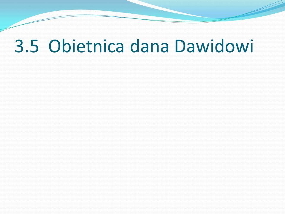 3.5 Obietnica dana Dawidowi
