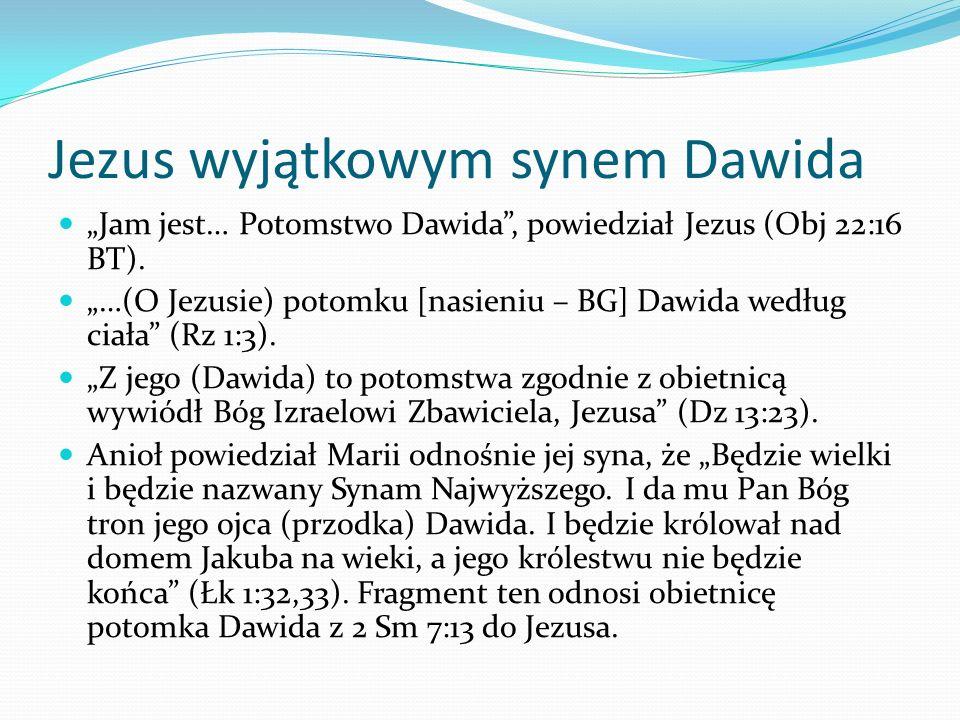 Jezus wyjątkowym synem Dawida