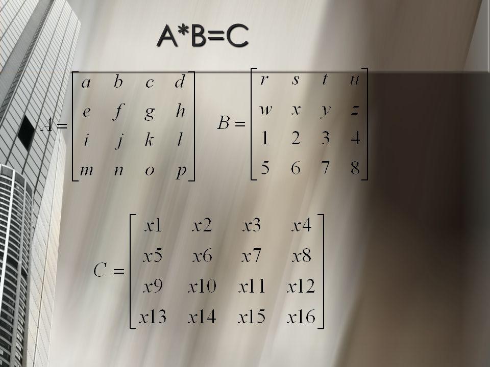 A*B=C